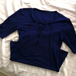 Express Royal Blue Top